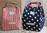 2014 fashon blue dot frozen bag insulation  thermal lunch bag cooler lunchbox children cartoon bag bolsa de franja