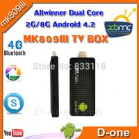 MK809III Quad Core DVB-T RK3188 Quad Core Google HD Internet Movies Player  XBMC Skype bluetooth wifi  android 4.2 TV Box