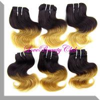 Hot Sale Product  5A Brazilian Virgin Ombre Hair Body Wave 4pcs/lot,8''',about 100g/pcs