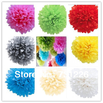 "Eco-friendly 4"" Tissue Paper Flower With 19 Colors For Wedding Room and Chair Decoration Birthday Party Decoration FREE SHIPPING"