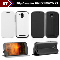 Flip Leather Case For 5 inch UMI X2/VOTO X2 Android Phones Color Black/White
