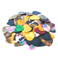 100Pcs Smooth Nylon 0.38-0.8mm Standard Electric Acoustic Guitar Picks Plectrums