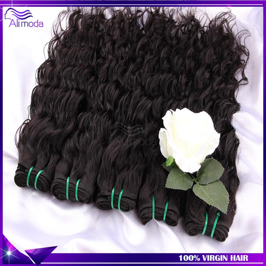 hair water wave 3pcs lot natural color brazillian virgin hair weave