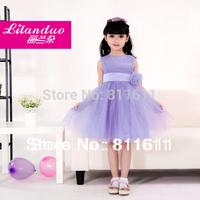 Retail 1Pcs (4 colour purple white red pink) 2013 children dress girls Princess dress chiffon Big bowknot dresse for summer