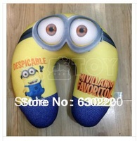 Free Shpping Hot sale Despicable Me Minion Pillow Plush Air/Car U-Neck safely Rest Cushion Minions Pillows