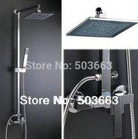 Wholesale New Bathroom mixer wall mounted Chrome Rainfall Shower Head Spray Set  Faucet S-599
