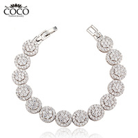 Super Sparkle Cubic Zirconia Bracelet Wholesale Fashion Girls Weddings & Events Brand Gemstone Jewelry CB018