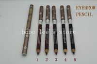 2013 Newest Wholesale 5 Colors Makeup Waterproof Long Lasting Professional Eyebrow  Pencil With Brush # 5pcs/Lot
