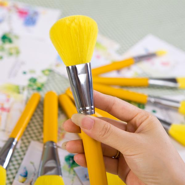 Makeup Brush Set Yellow
