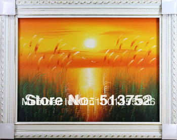 Oil Painting Decorative Acrylic Wall Panels 100% By Hand Sunrise Wholesale Price