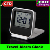AQ133 Travel Alarm Clock, Digital Thermometer and Calendar with EL Backlight