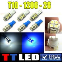 100 x T10 1210 28 smd led T10 W5W 147 168 Wedge Door Instrument Side Bulb Lamp DC 12V high power led T10 28smd #TB08