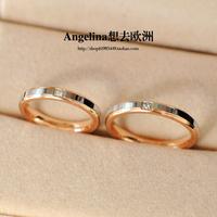 FREE SHIPPING~New Jewelry Fashion Korean Style 18k Rose Gold Plated Elegant Couple/Men/Women Ring Wedding Band