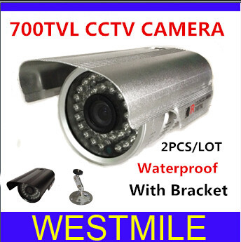 2PCS/LOT high quality 3.6mm  36 LEDS IR Night Vision Indoor/ Outdoor 1/3 700TVL Security CCTV Camera Free shipping