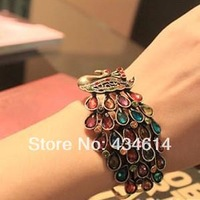 Min order $10 Hot new winter fashion jewelry 2014 Accessories Retro colorful peacock color bracelet for women bohemian luxury