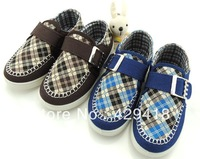 2013 New Arrive Autumn Boys Girls Canvas Flats Running Shoes Children Plaid Platform Sport Sneakers Free Shipping