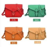 14 Colors Wholesale Vintage Fashion Satchel Bags for Women's Cross Body PU Leather Handbags Ladies' Casual Message Shoulder Bags