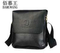 Free Shipping [2 Colors] Bai Mu Wang Genuine Leather New 2013 Men Messenger Bags Genuine Leather Bags Men Fashion Bags 1M001