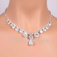 Zircon Wedding Jewelry Sets, Bridal Jewellery Set,Fashion Rhineston Necklace&Earrings for weman. Newest Designs Top Quality