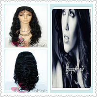 Free Shipping Brazilian Virgin Hair Hot Sale Body Wave 10''-24'' 1# Jet Black Full Lace Wigs For Black Women Free Shipping