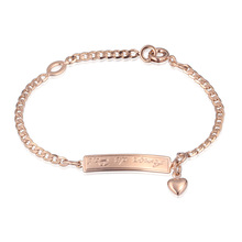 Fashion Baby Girls 18K Gold Plated Bracelets Bangles Heart Charms Muslim Children Gift Kids Jewelry Baby Accessories 12BR18K-39(China (Mainland))