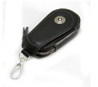 Promotion-2013 Fashion Men's 100% Genuine leather Car Key case holder Luxury  Unique women key Wallet With Zipper Closure HYX130