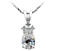 Pear necklaces & pendants,925 Sterling Silver necklace for women,Luxury semi mount pendant, fine SONA synthetic Diamond Pendant