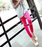 Fall 2014 women Plus size XL XXL XXXL 4XL thin Korean candy colored pantyhose for 40-125kg pencil pants casual leggings