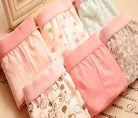 6pcs/lot Women Underpants Shorts women Fashion Cute Print Cotton Boxer Briefs Wholesale FREE SHIPPING