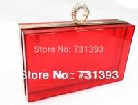 Fashion Acrylic Transparent Evening Bags Diamond Ring Transparent acrylic Cluch Evening Bags Shoulder Bag 212