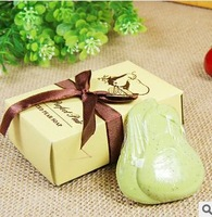 Home Party Supples  Personality Perfect Pair Scented Pear Soap Gift Box Wedding Favors baptism Bomboniere Party Shower Favour