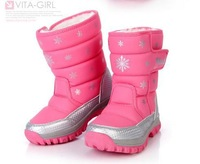 Strengthen edition 3m shirley cotton insulation slip-resistant snow boots children shoes children boots