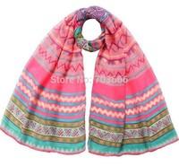 2014 Spring Summer Fashion Tribal Aztec Scarf Shawl Long  Women Chevron Wrap