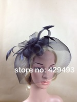 multiple color for chosen feather fascinator hats,good quality bridal hats,good for wedding,party,1pcs/lot,free shipping,