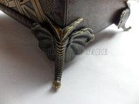 free shipping 8pcs Chinese 45mmX37mm vintage metal box Feet  for Box Making