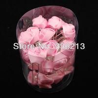 Simply Elegant! Rose Bud Pink Satin Bow Fork Hair Pin, Hair Ornaments, Hair Accessories