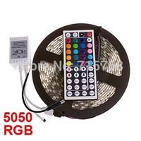 Hotsale 5M RGB led Strip Light 5050 60 led/m Non waterproof dc 12V 5050 smd 300leds rgb strip Christmas Decoration Light Strip
