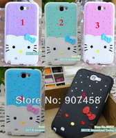 New Luxury Bling Diamond Hello Kitty Case for  New Arrival hard cover case for Samsung Galaxy  Note II N7100 Free Shipping