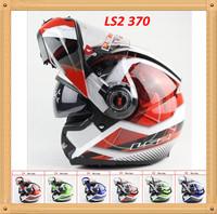 Free shipping Casco LS2 ff370 capacete Flip up Motorcycle helmet Full Face motorcycles Helmets dual lens visor DOT ECE