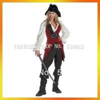 MOQ 1 free shipping quality women pirate costumes AEWC-0161