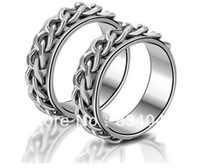 Mix Order Free Shipping Christmas Stainless Steel  Knitted Unisex Ring Party Cool Man Fashion rings for women