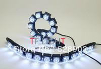 2X 12V Universal 12W Bendable 12 LED Waterproof Flexible DRL Daytime Running Light Fog Warning Lamp DIY EAGLE EYE free shipping