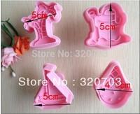 4pcs/set Free shipping Ice cream pattern shape biscuit machine plunger paste sugar craft decoration 020061