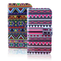10pcs New Luxury Tribal Flip Wallet Leather Case Cover For Samsung GALAXY S4 i9500 +FILM S62-S63