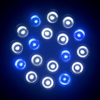 Drop / Free Shipping E27 54W 85-265V 12white+6blue LED Aquarium Light Bulb For Coral reefs and aquarium fishes wholesale price