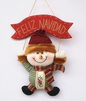 "Drop Shipping,2014 New Arrival ,11"" Indoor Christmas Hanging Ornaments Decoration Santa Claus Snowman Deer , SHB049"