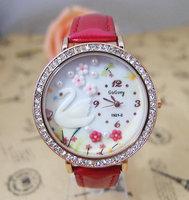 Handmade POLYMER CLAY Korea Mini Crystal women dress Watch  Children Ladies Wristwatch Quartz Watch go041