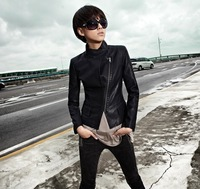 China Famous Brand SOPHY 2013 Autumn Fashion Stand Slim Short Design Leather Clothing Outerwear Women's Jacket Coat