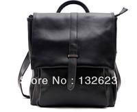 Women's Fashion Leather Shoulder Bag  Oil wax leather, Handbag, Shoulder bag, Messenger Bag, Double bag, Multi-Purpose Bag