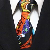 2014 New Arrival Mens Novelty Silk Neckties Cartoon Pattern Popular Party Ties For Men Gravatas Wide 10CM F10-D-6 Seda